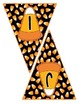 Halloween Banner / Pennant Set - Entire Alphabet & Numbers