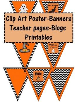 Halloween Printable Banners Decor Bulletin Board Art & Clip Art