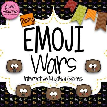 Halloween Bats Emoji Wars Syncopation {Interactive Rhythm Game}