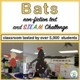 Bats Informational Reading and Make a Bat STEM Challenge