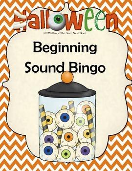 Halloween Beginning Sound Bingo