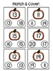 Fall Bingo Dauber Worksheets