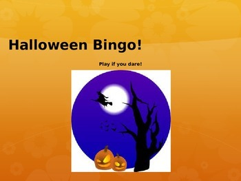 Halloween Bingo- Math and Reading