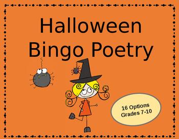 Halloween Bingo Poetry