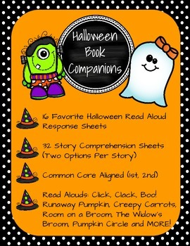 Halloween Book Companions: 32 Common Core Story Response Sheets