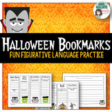 Halloween - Figurative Language / Poetry Practice Bookmarks