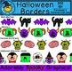 Halloween Borders Clip Art | Zombies, Witches, Cats, Vampi