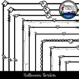Halloween Borders Clipart Bundle