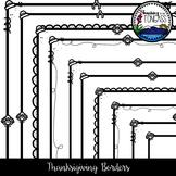 Thanksgiving Borders Clipart Bundle