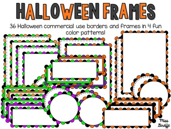 Halloween Frames and Page Borders Clip Art