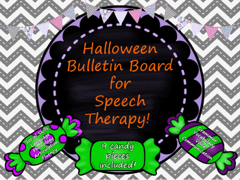 Halloween Bulletin Board Candy Pieces for Speech Therapy!