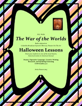 Halloween Lessons  War of the Worlds  5-12 Drama, Similes,