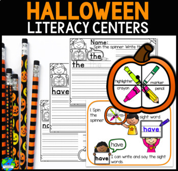 Halloween CVC, beginning sound worksheets and writing paper