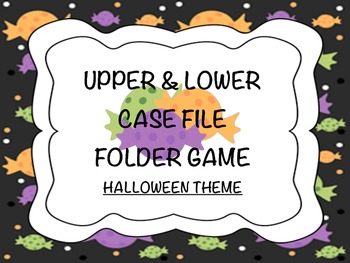 Halloween Candy ABCs File Folder Game