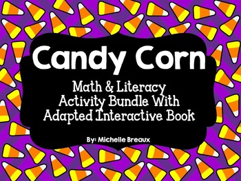 Halloween Candy Corn Adapted Counting Book with Math & Lit