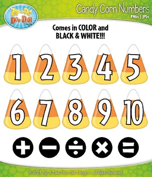 Halloween Candy Corn Math Numbers Clip Art — Over 30 Graphics!