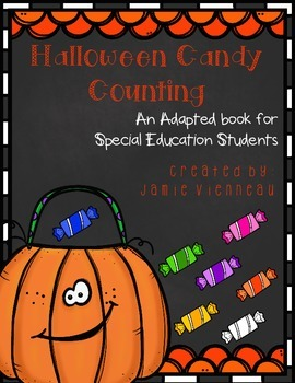 Halloween Candy Counting Adapted Book