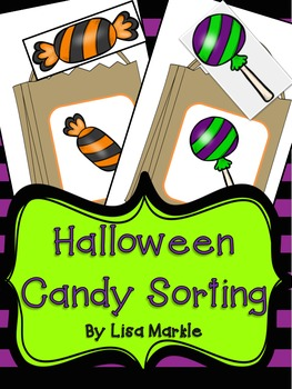 Halloween Candy Pattern Sorting Math Center Activity for P