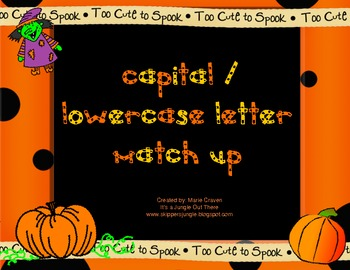 Halloween Capital and Lowercase Matching Game