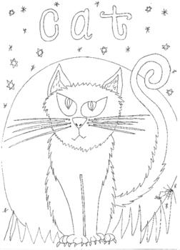 Halloween: Cat Colouring Sheet