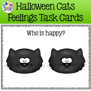 Halloween Activities - Cats Feelings / Emotions Task Cards