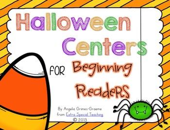 Halloween Centers for Beginning Readers