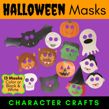 Halloween Masks - Character Craft Projects {Color or Black