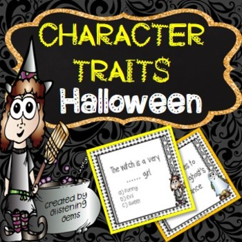 Halloween- Character Trait Task Cards