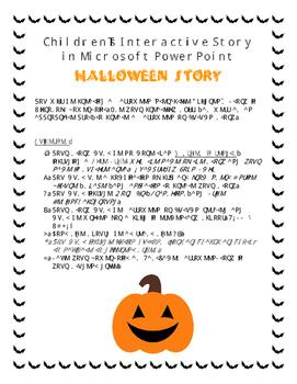 Halloween Children's Interactive Story in Microsoft PowerPoint