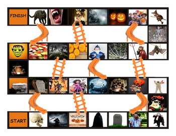 Halloween Chutes and Ladders Board Game