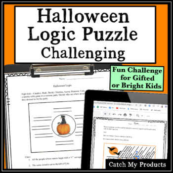 Halloween Logic Puzzle : Circle Logic for Gifted and Talented