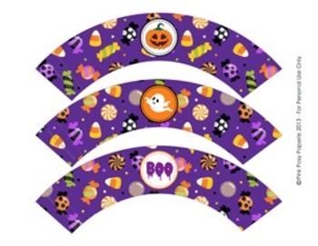 Halloween Classroom Party Cupcake Wrappers