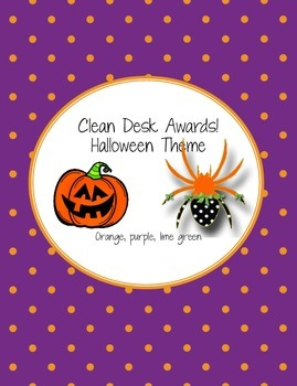 Halloween Clean Desk Awards