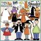 Halloween Clip Art Bundle - Trick or Treat - 4 Clip Art &