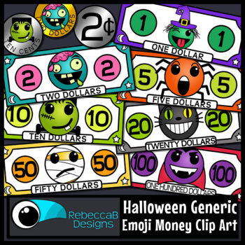 Halloween Emoji Money Clip Art