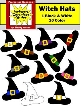 Halloween Clipart WITCH HATS Commercial Use Witches Clip Art