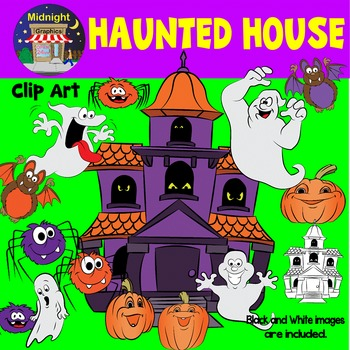 Halloween Clip Art - Haunted House