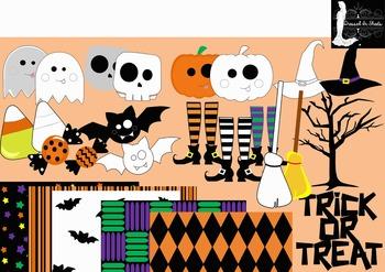 Halloween Clip art & Digital Paper