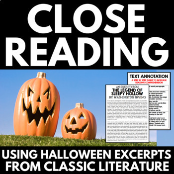 Close Reading: Halloween Classics - No Prep Activities and