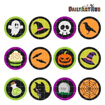 Halloween Collage Clip Art - Great for Art Class Projects!