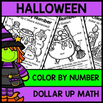 Halloween Color By Number {Dollar Up} {Special Education}