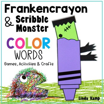 Halloween Color Word Games, Class Chart & Frankencrayon Wr