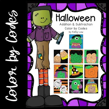 Halloween Color by Codes -- Addition/Subtraction