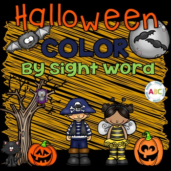 Halloween Color by Sight Word