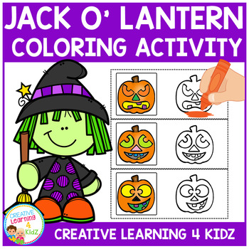Halloween Color the Pumpkin Cards