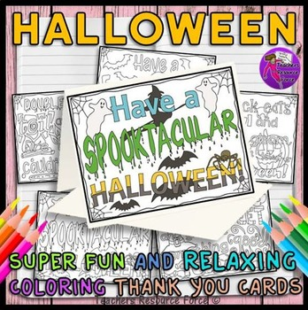 Halloween Quote Zen Doodle Coloring Greeting Cards