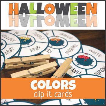 Halloween Colors Clip It Cards