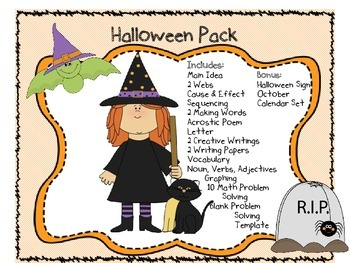Halloween Complete Pack with Math, Writing, Reading, Hallo