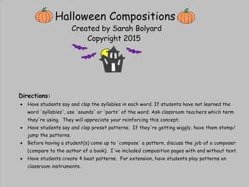 Halloween Compositions
