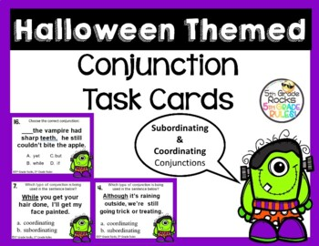 Halloween Conjunction (coordinating and subordinating) Tas